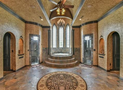 19,000 Square Foot Castle-Like Stone & Brick Mansion In